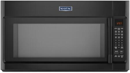 "Maytag MMV5219FX 30"" Over the Range Microwave with 2.1 cu. ft. Capacity, 400 CFM Fan, Mesh Grease Filter, Charcoal Odor Filter, Incandescent Work Surface Light, and 1000 Cooking Power Wattage"