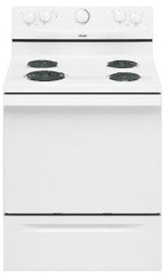Whirlpool RF110AXSQ  Electric Freestanding Range with 4 Coil Cooktop Storage 4.8 cu. ft. Primary Oven Capacity |Appliances Connection