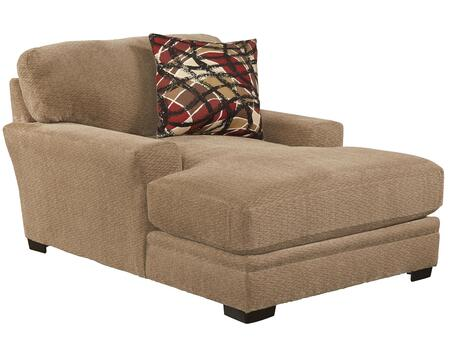 "Jackson Furniture Prescott Collection 4487-09- 69"" Chaise with Mailbox Arm Treatment, Reversible Box Seat Cushions and Padded Chenille Fabric Upholstery in"