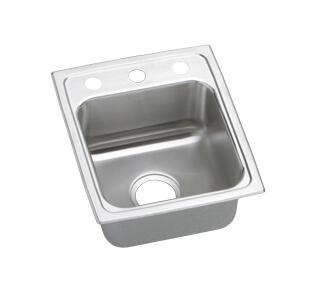 """Elkay LRAD1522550 15"""" Top Mount Self-Rim Single Bowl 18-Gauge ADA Compliant Stainless Steel Sink"""