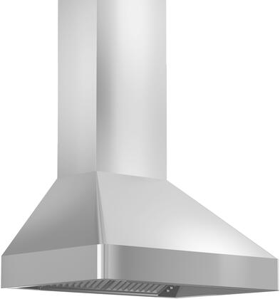 Z Line 9597 Professional Wall Mount Range Hood with 900 CFM, Dishwasher Safe Stainless Steel Baffle Filters, Push Button Control, in Stainless Steel