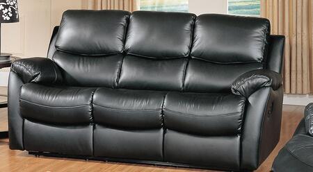 Yuan Tai BR8852SBK Brett Series Reclining Leather Sofa