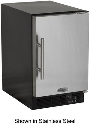 Picture of 15IMBBFR Solid Black Door 15 ADA Height Ice Maker with 15 lbs Storage Capacity  12 lbs Daily Production  Designer Handle  Manual Defrost  Crescent Style Ice