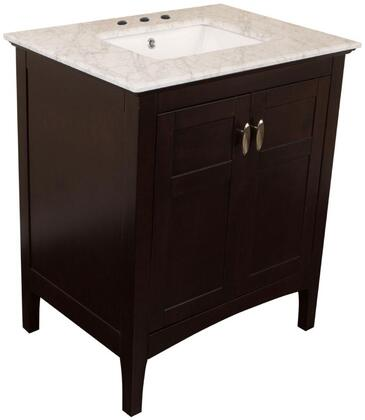 "Bellaterra Home 7613SWX 30"" Single Sink Vanity in Sable Walnut"