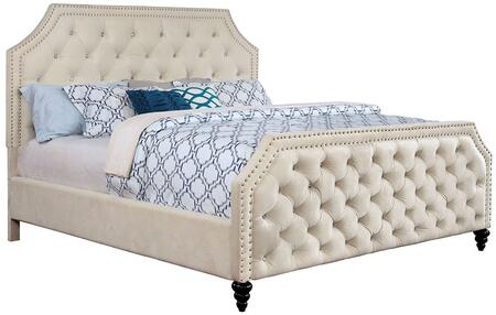 Furniture of America CM7675CKBED Claudine Series  California King Size Panel Bed