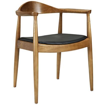 Modway EEI649BLK Wegner Series Modern Vinyl Wood Frame Dining Room Chair