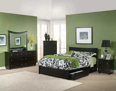 Atlantic Furniture METFPWHQN  Queen Size Bed