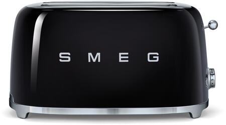 Smeg TSF02 50s Retro Style 4 Slice Toaster with 6 Browning Levels, Stainless Steel Ball Lever Knob, Backlit Chrome Knob, Self-Centering Racks and Automatic Slice Pop Up in