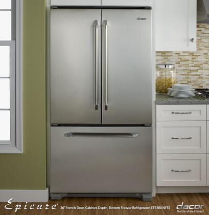 Dacor EF36BNNFSS Renaissance Series Counter Depth French Door Refrigerator with 19.9 cu. ft. & Dacor EF36BNNFSS Renaissance Series Counter Depth French Door ...