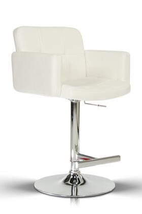 VIG Furniture VGCBT1040WHT Modrest Series Residential Bar Stool