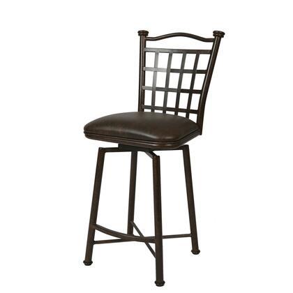 Pastel Furniture QLBP219 Bay Point Bar Height Swivel Barstool in Dark Brown