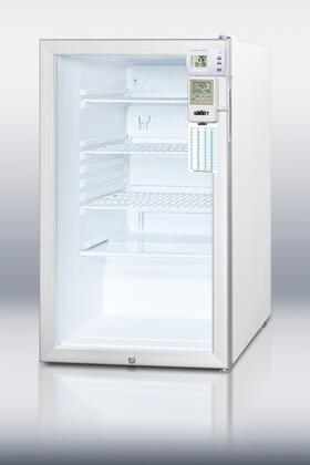 Summit SCR450LBI7MEDSC AccuCold Series Freestanding Counter Depth Compact Refrigerator with 4.1 cu. ft. Capacity, 4 ShelvesField Reversible Doors