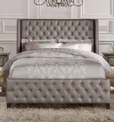 Hillsdale Furniture Memphis Queen Size Bed 1886BQR Textured Pewter ...