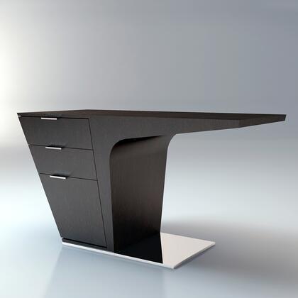 Modloft MD150WEN Mercer Series Writing  Metal Desk