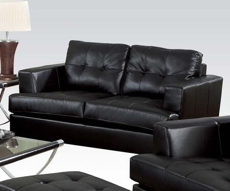 Acme Furniture 15091B Platinum Series Bonded Leather Stationary with Wood Frame Loveseat