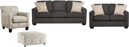 Milo Italia MI8665SLCOCHAR Elisha Living Room Sets