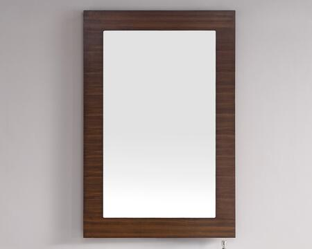"""James Martin Metropolitan Collection 850-M30- 30"""" x 42"""" Mirror with Recessed Keyhole Brackets, Beveled Glass and Wood Frame in"""