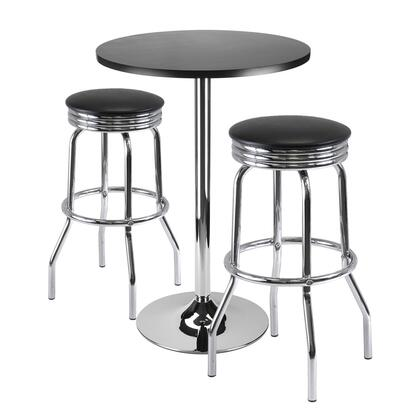 Winsome 933Sum Summit 3-Pc Bar Table Set, Table and 2 Stools
