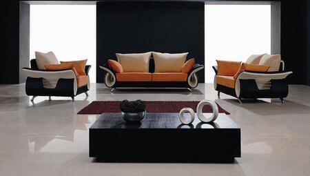 VIG Furniture VGHOB05 Modern Fabric/ Leather Living Room Set