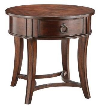 Stein World 561023 Lexington Series Traditional Round 1 Drawers End Table