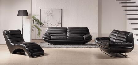 VIG Furniture VGBNSBO3979BLK Modern Leather Living Room Set