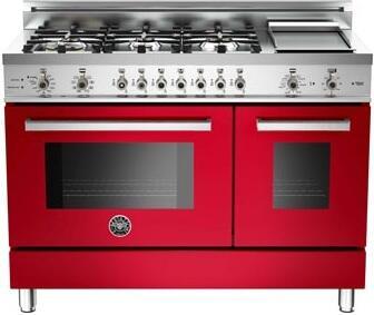 """Bertazzoni PRO486GDFSROLP 48"""" Professional Series Dual Fuel Freestanding"""