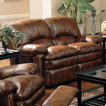 Coaster 600332 Bonded Leather Reclining with Wood Frame Loveseat