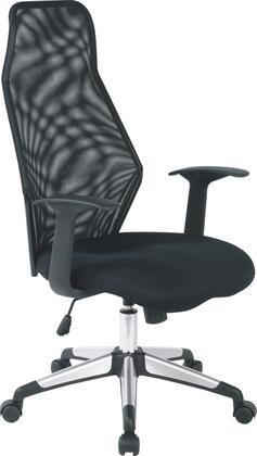 "VIG Furniture VGLFW35BLK 24"" Adjustable Modern Office Chair"