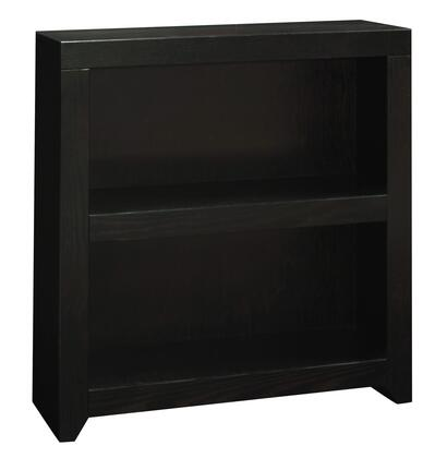 Legends Furniture Skyline SK66XX.MOC Bookcase with Shelves, Straight-Line Design and Constructed with Oak Solids and Veneers in Mocha Finish