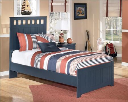 Milo Italia BR-179TTT Jamarion Collection X Size Panel Bed: Blue