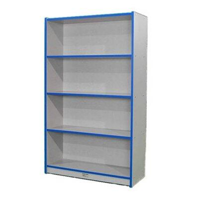 """Mahar N60SCASE 60"""" Single Sided Book Case in Gray Nebula Finish with Edge Color"""
