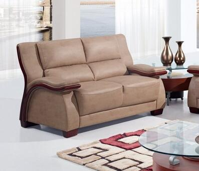 Global Furniture USA UA1411L Bonded Leather Stationary Loveseat