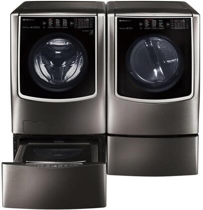 LG Signature 802322 Black Stainless Steel Washer and Dryer C