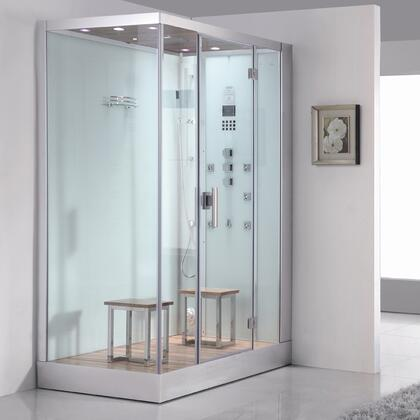 Ariel DZ961F8W Platinum Steam Shower with Rainfall Showerhead, Ventilation Fan, FM Radio for Easy Listening, Cleaning Function and in White