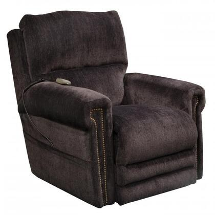 "Catnapper Warner Collection 4862 38"" Power Lift Recliner with Power Headrest, Extended Ottoman, Dual Motor Design, Decorative Nailhead Trim, Comfort Coil Seating and Chenille Fabric Upholstery"