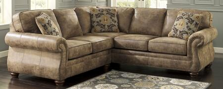 Signature Design by Ashley 31901-5X-6X Larkinhurst Sectional Sofa with X Arm Facing Loveseat and X Arm Facing Sofa in Earth Color