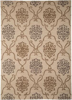 "Signature Design by Ashley Haidar R40042 "" x "" Size Rug with Medallion Design, Hand-Tufted Made, 15mm Pile Height, Wool Material and Backed with Cotton in Brown and Grey Colors"