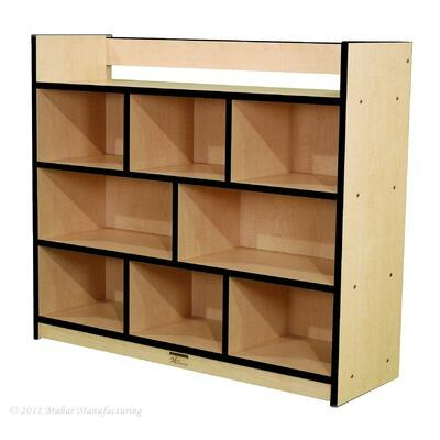 Mahar M50950 Single-Sided Storage Unit with Book Rack in Maple Finish with Edge Color (Youth)