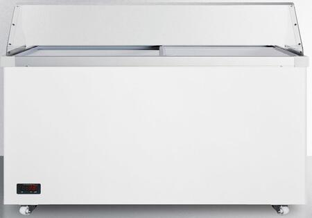 "Summit SCF1712DTPDC 62"" Freestanding Commercial Glass Top Freezer"