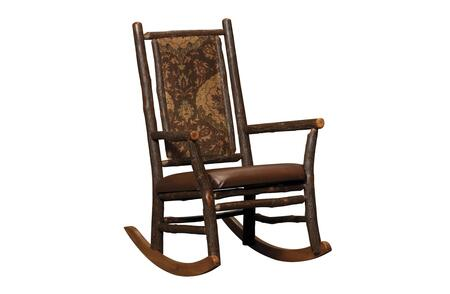 Chelsea Home Furniture 420-676X Ezekiel Rocker, in Maple and Michael's Cherry Finish, with Fabric or Leather Upholstery