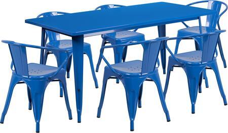 Flash Furniture ETCT005670BLGG Rectangular Shape Patio Sets