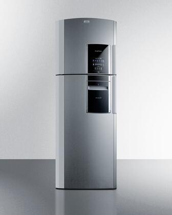 "Summit FF1525PLIMLHD 26"" Ingenious Series Platinum Counter Depth Refrigerator with 14.12 cu. ft. Capacity"