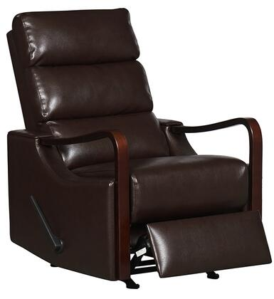 Rissanti 21310CHOCOLATE Contemporary Leather N/A Frame  Recliners