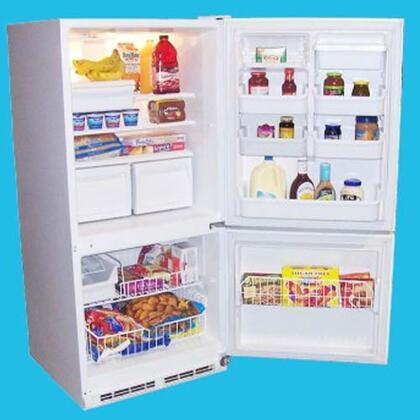 Haier HBE18WACWW HBE18WA Series Bottom Freezer Refrigerator with 17.6 cu. ft. Capacity in White