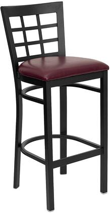 Flash Furniture XUDG6R7BWINBARBURVGG Hercules Series Vinyl Upholstered Bar Stool
