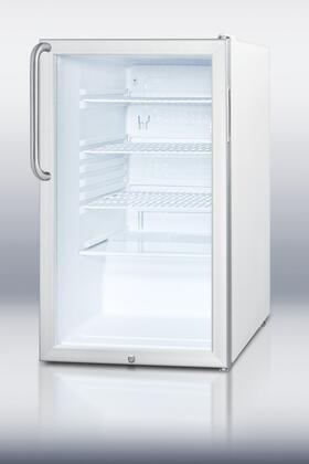 """Summit SCR450L7TB 20"""" Freestanding Counter Depth Compact Refrigerator with 4.1 cu. ft. Capacity, 3 Wire Shelves"""