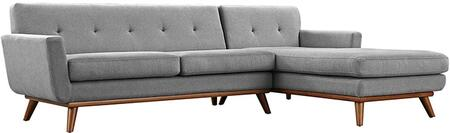 Modway EEI2119GRYSET Engage Series Stationary Fabric Sofa