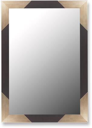 Hitchcock Butterfield 25930X Cameo Mirror in Brazilian Walnut Keystones with Champagne Corners