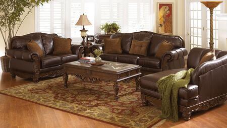 Milo Italia MI6844KIT6PC3DKBR Franklin Living Room Sets