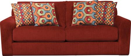 """Jackson Furniture Sutton Collection 3289-03- 89"""" Sofa with Chenille Fabric Upholstery, Comfort Coil Seating and Four Pillows in"""